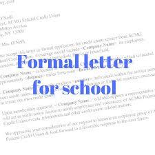 How To Format A Formal Letter Formal Letter Format For School Principal Formal Letter