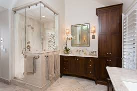 traditional shower designs.  Designs Traditional Shower Designs Bathroom Traditional With Dark Wood Cabinets  Beige Tile Wall Plantation Shutters Intended Shower Designs