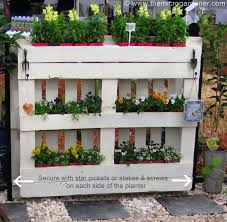 pallet planter needs to be secured in place as it is very heavy the