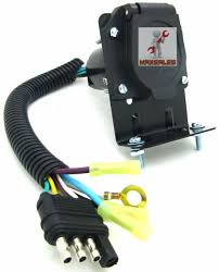 rv trailer wiring harness wiring diagram 4 flat to 7 way rv trailer light plug wire harness converter adapternew 4 flat to