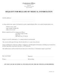 Sample Medical Records Release Form Document Release Form Template Medical Records Consent Model