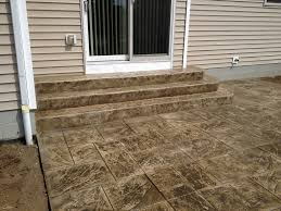 stamped concrete patio with stairs. Wonderful Patio Stamped Concrete Steps Travertine And Bark Brown Inside Patio With Stairs