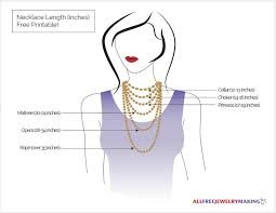 Jewelry Length Chart Necklace Length Chart Printable Allfreejewelrymaking Com
