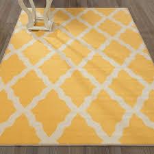 ottomanson glamour collection contemporary moroccan trellis design kids lattice area non slip kitchen and bathroom mat rug yellow 2 7 x 4 1 ottomanson