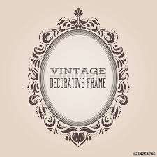 Oval frame design Ornamental Oval Vintage Ornate Border Frame With Retro Pattern Victorian And Baroque Style Decorative Design Simple And Elegant Oval Frame Shape With Swirls For Oogazonecom Oval Vintage Ornate Border Frame With Retro Pattern Victorian And