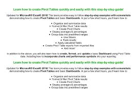 Read Excel Pivot Tables Introduction To Dashboards The