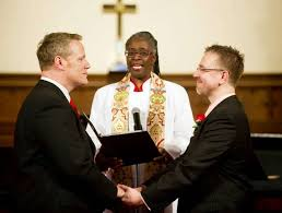 Gay marriages on church