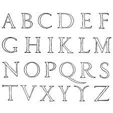 Disegno Di Lettere Alfabeto Da Colorare Per Bambini
