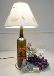 crafting ideas for diy projects from wine bottles table lamp