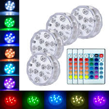 Radio Controlled Led Lights Us 4 63 35 Off Xsky Submersible Led Light Remote Controlled Battery Powered Rgb Color Changing Underwater Light For Event Party Home Decorative In