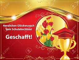 German Graduation Greeting Card Congratulations On Your Graduations