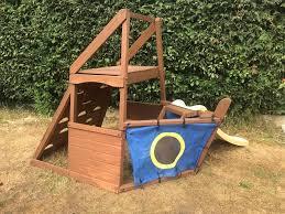 wooden pirate ship with slide garden kids playframe