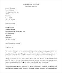Letter To Terminate Contract With Supplier Free Termination Letter Template Formal Sample Panlu Co