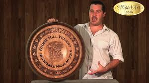 Reclaimed bourbon barrel head wall clock | whiskeymade. Ewoodart Custom Wine Barrel Head Carvings Signs And Clocks