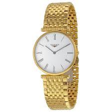 longines la grande classique quartz white dial gold tone men s longines la grande classique quartz white dial gold tone men s watch l4 755 2