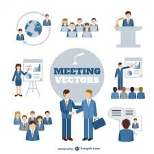 meeting free business meeting characters vector free download