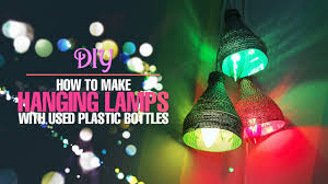 Diy Hanging Lamps With Plastic Bottles Home Decor
