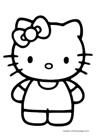 Small Picture Large Hello Kitty Coloring Pages Download And Print For Free Print