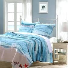 coastal beach nautical blue cotton quilt set beach inspired duvet covers coastal print duvet covers beach