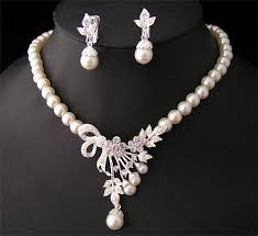 2019 white diamond pearl necklace earrings jewelry set bridesmaid bridal fine jewelry wedding dresses accessories brand new from wz china 7 04 dhgate
