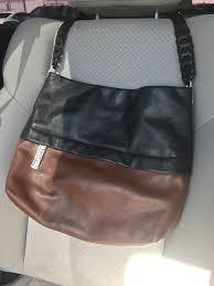 brighton klee black brown soft leather shoulder purse