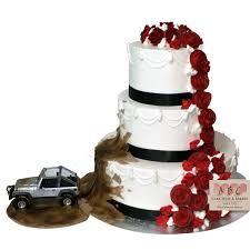2081 Jeep Throwing Mud On 3 Tier Wedding Cake Abc Cake Shop Bakery