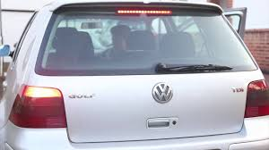 Vw Gti Brake Light Replacement Replacing Vw Golf Rear Brake Light Bulb How To Remove And Fit New Bulb