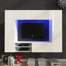 White High Gloss Living Room Furniture Uk Only Us20199 White High Gloss Entertainment Center Led Tv Wall