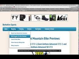 Berkshire Sports Bike Computer Tire Size Calculator