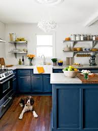 Stylish Blue Kitchen Cabinet Paint Colors Beautifully Colorful