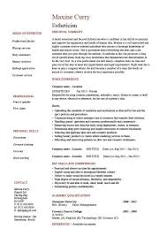 Objective For Esthetician Resume Best of 24 Great Esthetician Resume Sample Objective Template Free