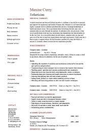 52 Great Esthetician Resume Sample Objective Template Free
