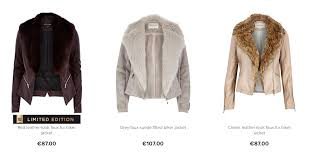 river island cream leather waterfall jacket famous 2018 river island womens dark grey belted faux fur jacket