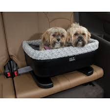 pet gear black with fog gray liner 20 bucket booster dog car seat