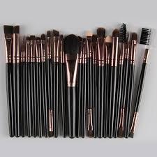22 pcs nylon eye lip makeup brushes set black