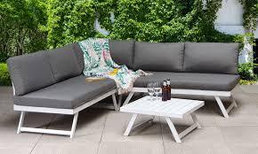kiki outdoor dining corner sofa set