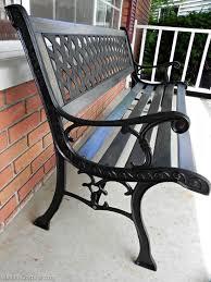Wrought Iron Garden Bench  Home Outdoor DecorationOutdoor Wrought Iron Bench