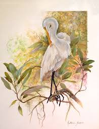 the beauty of oil painting snowy egret egret gary jenkins gary jenkins