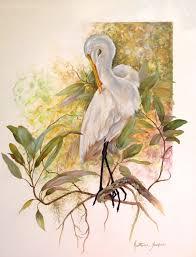 the beauty of oil painting snowy egret egret gary jenkins gary jenkins