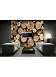 3D Wood Panel Wallpaper Multicolour ...