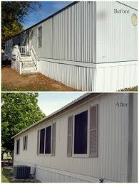 mobile home exterior window trim. mobile home exterior facelift! this site has great before and after photos! window trim e