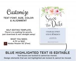 Save The Date No Photo Floral Save The Date Card