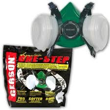 gerson 8211p dual cartridge respirator auto painting mask medium