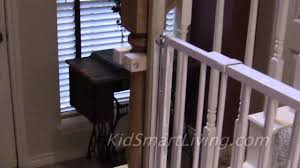 Gate For Stairs How To Install Baby Gates On Stairway Railing Banisters Without