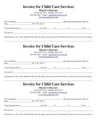 Child Care Receipt Phenomenal Childcare Invoice Tecnicidellaprevenzione