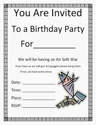 Birthday Party Invitation Templates Microsoft Word In 2019