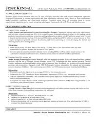Account Executive Resume Awesome Gross Executive Sales Manager