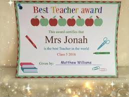 Best Teacher Award Template Lccorp Co