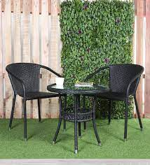 outdoor coffee table set in black