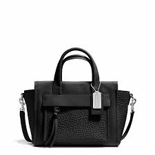 ... Bags Coach Bleecker Mini Riley Carryall In Leather ...